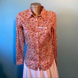 Tommy Hilfiger floral cottagecore button up blouse